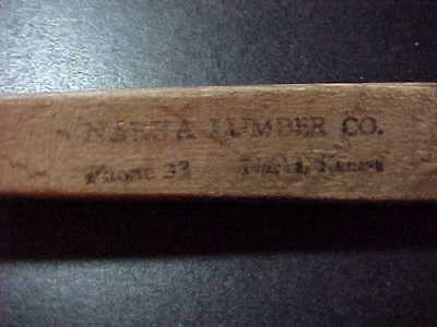 Rare vintage Narka, Kansas Lumber Company Yard advertising spoon