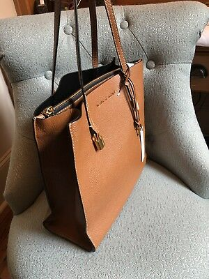 NEW MARC JACOBS WOMENS THE GRIND EAST/WEST LEATHER (LUGGAGE) Tote -Retails $375