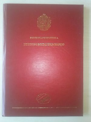 Rare Philatelic Book with Stamps and Envelopes Venezuela 60th  Contraloria Gener