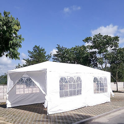 3X6M Canopy Outdoor Wedding Party Tent Gazebo Marquee Pavilion w/6 Side Walls