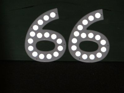 "Route ""66"" Road Sign VTG Numbers Reflective Road Side Large 1 Foot High"