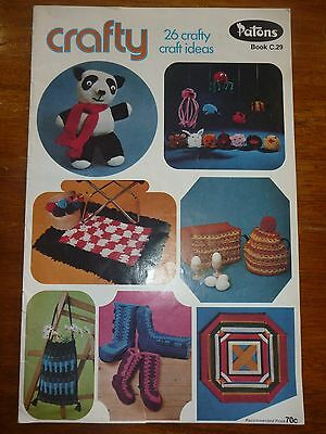 Patons Crafty Knitting Pattern Book C29-Teapot Cosy Socks Rugs Animals Cushion