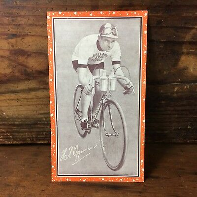 1933 Signed Hubert Opperman Malvern Star Advertising Card Cycling Bicycles