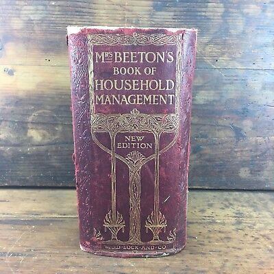 1902 MRS BEETONS BOOK OF HOUSEHOLD MANAGEMENT 2090pp AMAZING BOOK