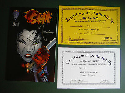SHI #5 Signed by BILLY TUCCI & JIMMY PALMIOTTI with COA Crusade Comics NM