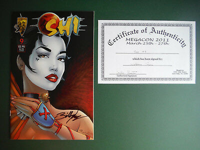 SHI #9 Signed by BILLY TUCCI with COA Crusade Comics NM