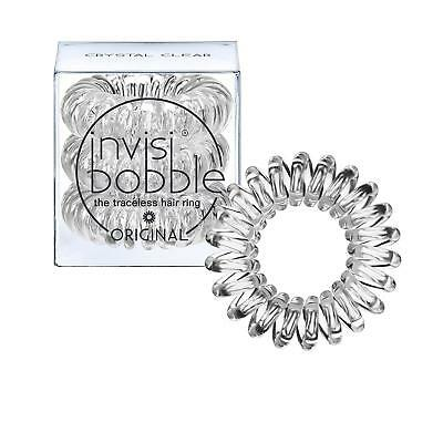 Invisibobble Original Traceless Hair Ring - Stronghold Tie - Crystal Clear