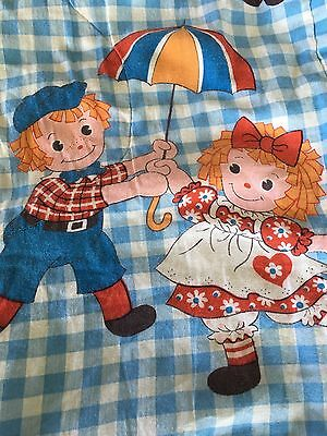 Vintage Raggedy Ann & Andy Sleeping Bag-for Kids Sleepovers-Great Condition-Cozy