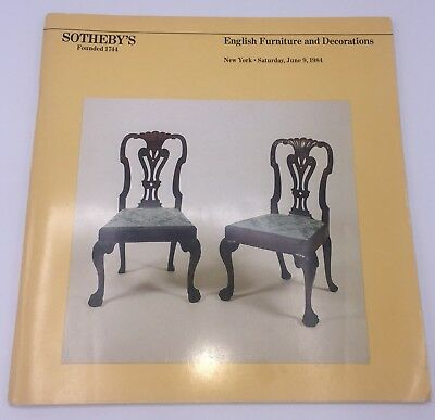 Southeby's English Furniture and Decorations Catalog June 1984 Includes Results