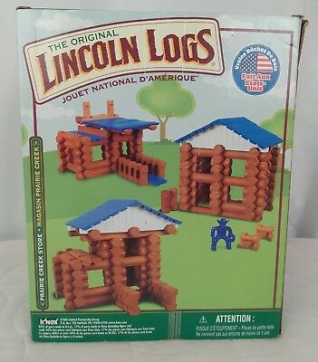 Lincoln Logs 88 Piece Prairie Creek Store Model 00832 Complete Boxed Set