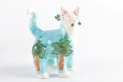 whimsical cat figurine, Amy Lacombe, palm trees, snaggle whiskers 😸