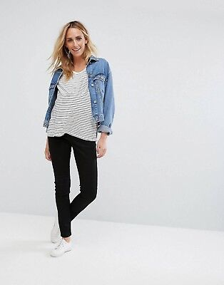 ASOS Ridley Skinny Maternity Jeans In Clean Black