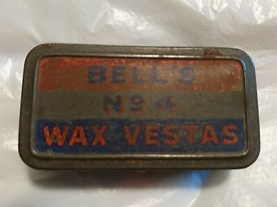 Bell's NO4 Wax Vesta Tin WW1/ww2