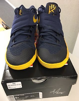 Youth Nike Kyrie 2 GS Size 7Y Mid Navy University Gold 826673-447