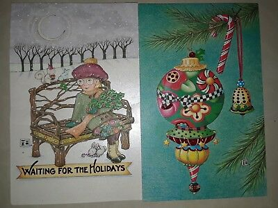 New American Greeting Holiday Christmas Cards Mary Engelbreit retail $35 2 Style