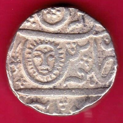 Indore State - Sun Face - One Rupee - Rare Silver Coin #t2