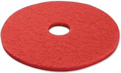 Boardwalk Red Standard 17 In. Buffing Floor Pads, 5 Count