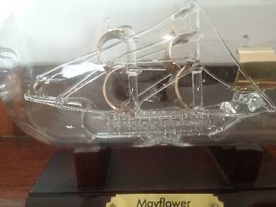 Collectable Crystal boat in a bottle display piece