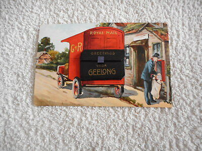 Vintage Postcard Greetings from Geelong with small fold out View Folder 1913