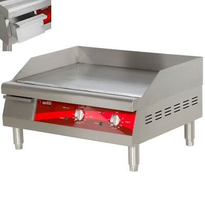 "24"" Flat Top Griddle Stainless Steel Commercial Countertop Electric Grill"