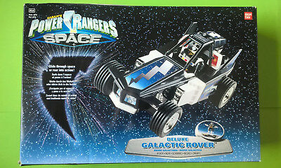 Power Rangers in Space: Deluxe Black Galactic Rover mit Figur - Bandai 1998