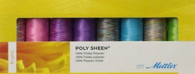 Mettler Polysheen Assorted Embroidery Brights Thread Pack 8 x 200m Spools