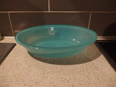 PYREX AGEE..Made in Australia ~~PO-112    BLUE TURQUOISE BAKING DISH
