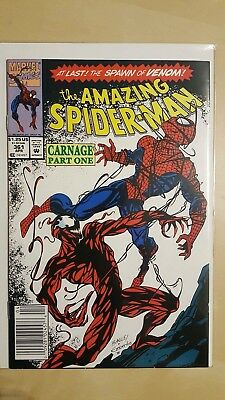 The Amazing Spiderman #361 Marvel Comic high Grade 9.0 first Carnage