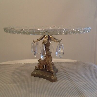Beautiful Heavy Crystal Tazza Center Piece Chandelier