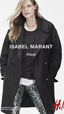 Isabel Marant for H&M Oversized Wool Coat, Sold Out, Size 8