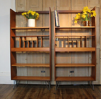 MID CENTURY TEAK G Plan Bookcase Shelves Room Divider On Retro
