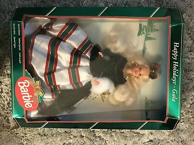 Happy Holidays Gala Christmas Barbie Collectable
