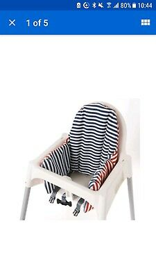 IKEA Antilop Highchair Cushion Cover Reversible 2 Colour red or Blue Pyttig