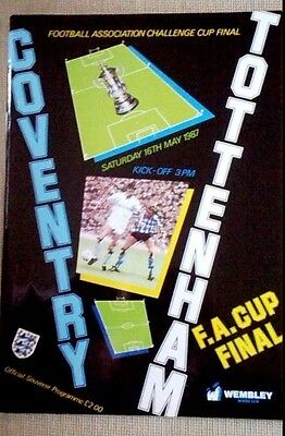 1987 FA Cup Final Programme - Coventry v Tottenham (Near MINT Condition)