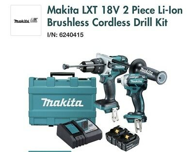 Makita 18v Brushless 2 Piece Combo Kit Brand New DLX2092T RRP $679 Aussie Stock
