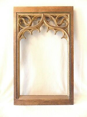 Carved Oak Church Tracery Gothic Revival Panel #2