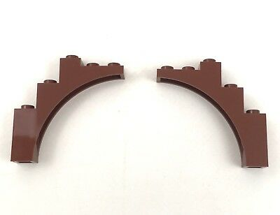 Bow 1x5x4 NEW 2 Brown Parts LEGO 14395 Brick W 6044725 Curved