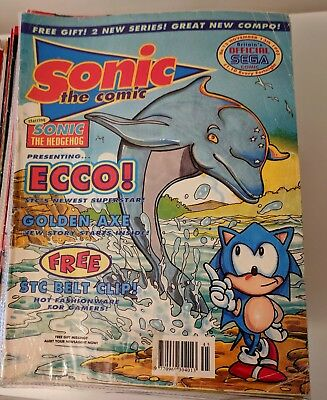 Sonic The Comic - 140 issues, mixed job. Good to poor condition.
