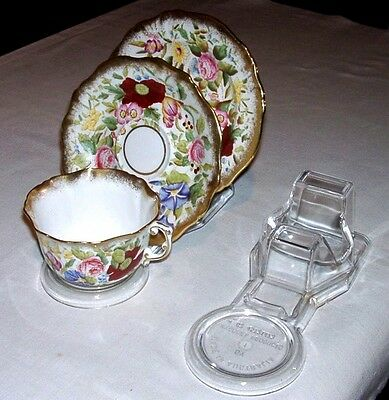 8 Cup, Saucer And Plate  Display Stand - Clear - Australian Made