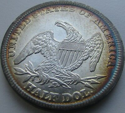 1839 Capped Bust Silver Half Dollar in a SAFLIP® - AU+ Toned