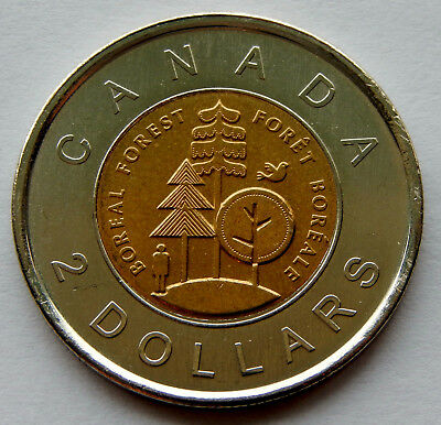 2011 Canada Boreal Forest 2 Dollar Coin BU from Mint Packaging  SB181