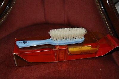 Vintage  'baby brush' by Kent. Blue wooden handle and soft brush.