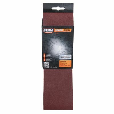 FERM 3 Sanding Belt Fine Coarse Power Sander 75 x 533 mm 60 80 120 Grit BSA1013~