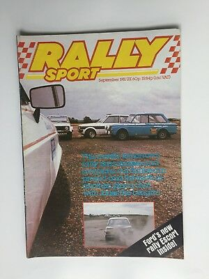 Rally Sport Magazine September 1981 - Ford's New Rally Escort