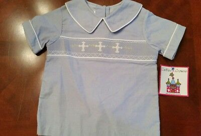 NWT Castles and Crowns boys smocked shirt, size 4/5. Perfect for Easter!