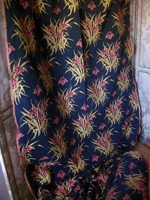 French Vintage Quality Designer Upholstery Woven Tapestry Fabric. Unused .10m