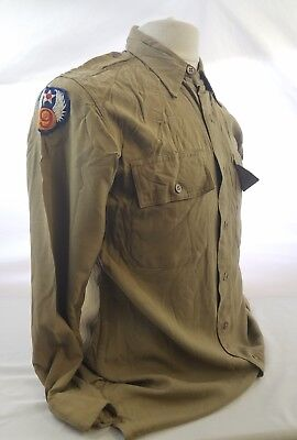 WW2 WWII US U.S. 9th Army Airforce Shirt,AAF,Wings,Uniform,Khaki,Original,Vtg,GI