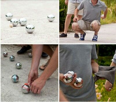 New Pro  8 Pc Steel French Boules Set Petanque Balls Free Carry Case Garden Game