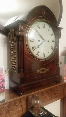 "twin fusee bracket clock 21 1/2 "" x 15""  by armstrong  manchester"
