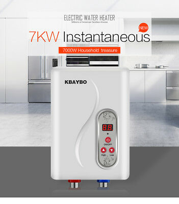 7000W elek. Durchlauferhitzer Instant Hot Water Heater Electric Tankless House